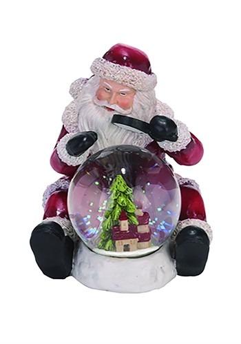 Resin Traditional Santa Snow Globe