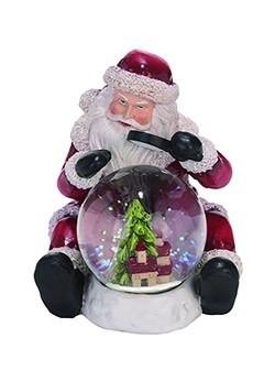Resin Traditional Santa Snow Globe