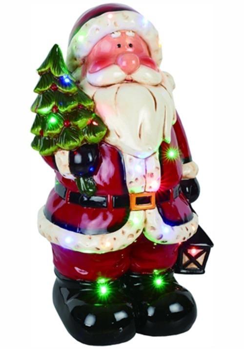 "20""H Dolomite LED Light & Music Santa Decoration"