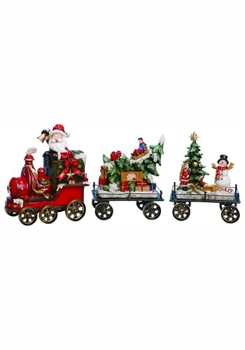 Resin Holiday Train Set of 3 Christmas Decor