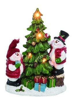 Resin Light Up Snowman Decorating Tree Christmas Figure