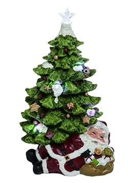 Resin Light Up Santa Under Tree Christmas Decor