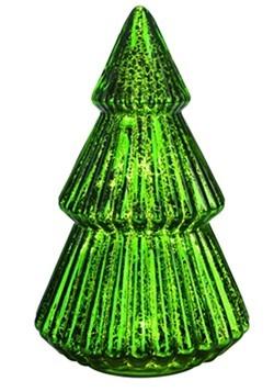 Metal Light Up Mercury Glass Green Christmas Tree