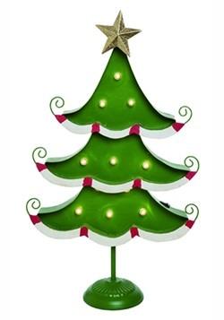 Metal Light Up Christmas Tree