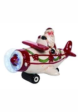 Light Up Musical Santa Plane Christmas Decor