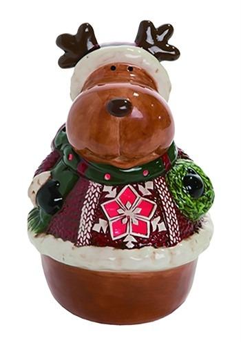 Light Up Sweater Moose Christmas Decor
