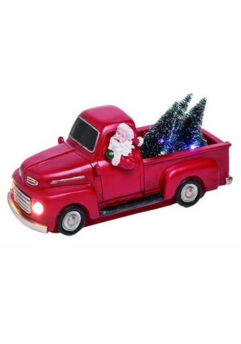 Resin Light Up Santa Truck Decor