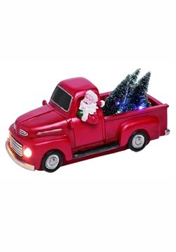 Resin Light Up Santa Truck Decor