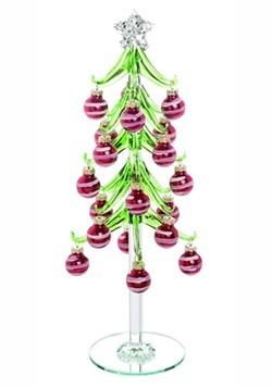 Glass Ornament Trinket Tree Christmas Decor