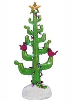 Light Up Resin Cactus Christmas Tree
