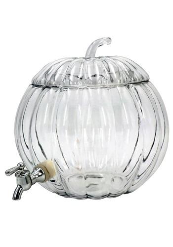 Glass Pumpkin 2 Gallon Drink Dispenser