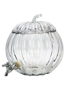 Glass Pumpkin 2 Gallon Drink Dispenser