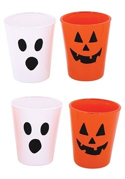 Set of 4 Halloween Face Shot Glasses