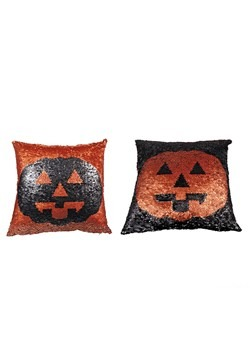 Reversible Sequin Jack O'Lantern Pillow