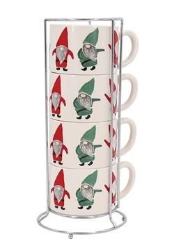 Set of 4 Gnome Stacking Mug Set