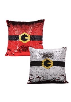 Reversible Santa Belt Sequin Pillow