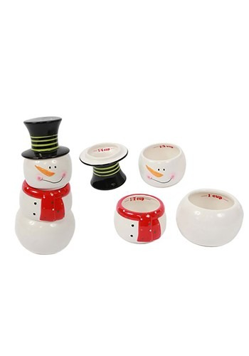 Stackable Snowman Measuring Cups Set of 4