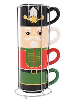 Set of 4 Nutcracker Stacking Mug Set