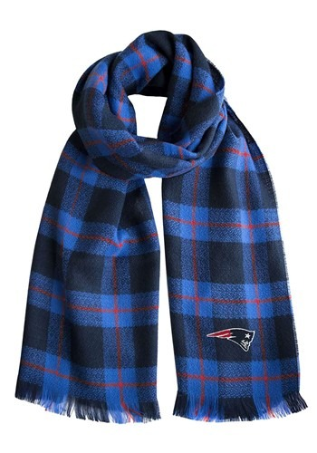 NFL New England Patriots Plaid Blanket Scarf