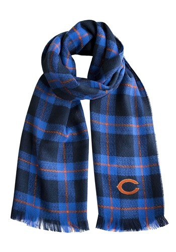 NFL Chicago Bears Plaid Blanket Scarf