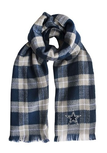 NFL Dallas Cowboys Navy Blue Plaid Blanket Scarf