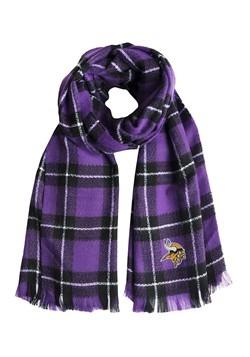 NFL Minnesota Vikings Plaid Blanket Scarf