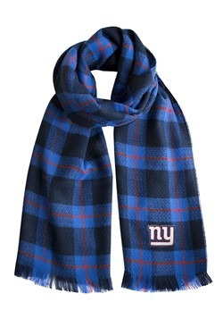 NFL New York Giants Navy and Red Plaid Blanket Scarf