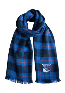 NHL New York Rangers Plaid Blanket Scarf