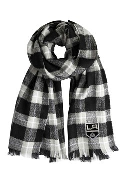 NHL Los Angeles Kings Black Plaid Blanket Scarf