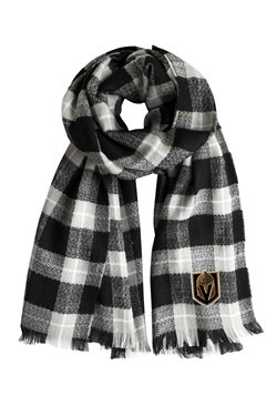NHL Las Vegas Golden Knights Black Plaid Blanket Scarf