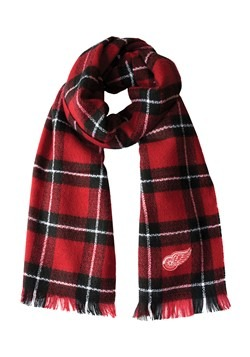 NHL Detroit Red Wings Plaid Blanket Scarf