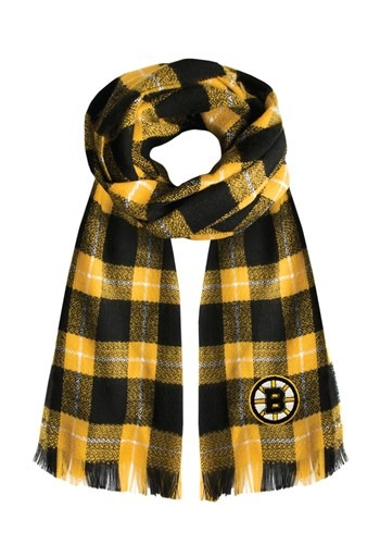 NHL Boston Bruins Plaid Blanket Scarf
