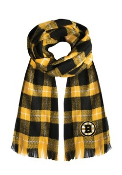 NHL Boston Bruins Plaid Blanket Scarf