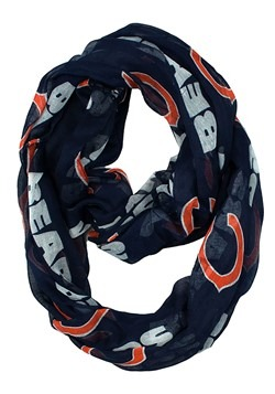 NFL Chicago Bears Team Logo Sheer Infinity Scarf