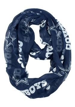 NFL Dallas Cowboys Sheer Infinity Scarf