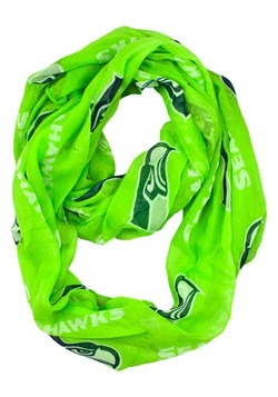 NFL Seattle Seahawks Sheer Team Logo Infinity Scarf