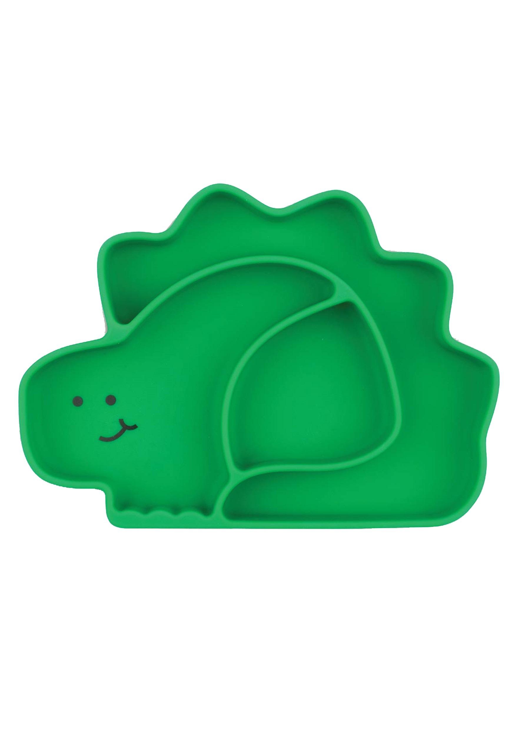 Green Dinosaur Silicone Grip Dish
