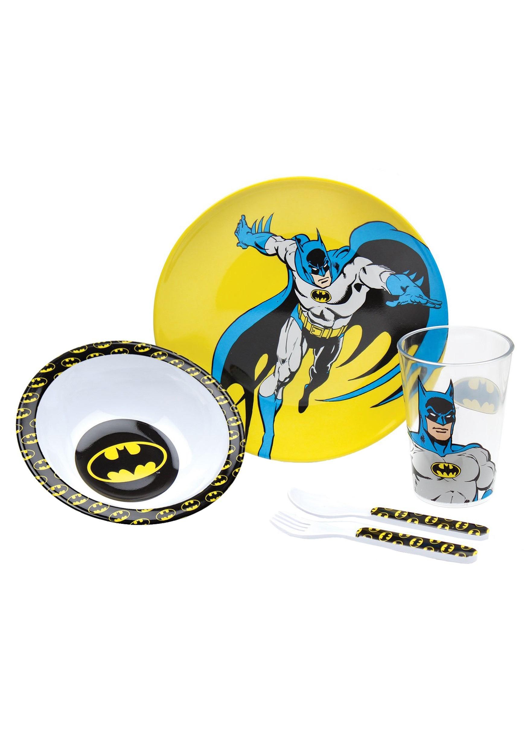 DC Comics Batman Melamine Mealtime Set