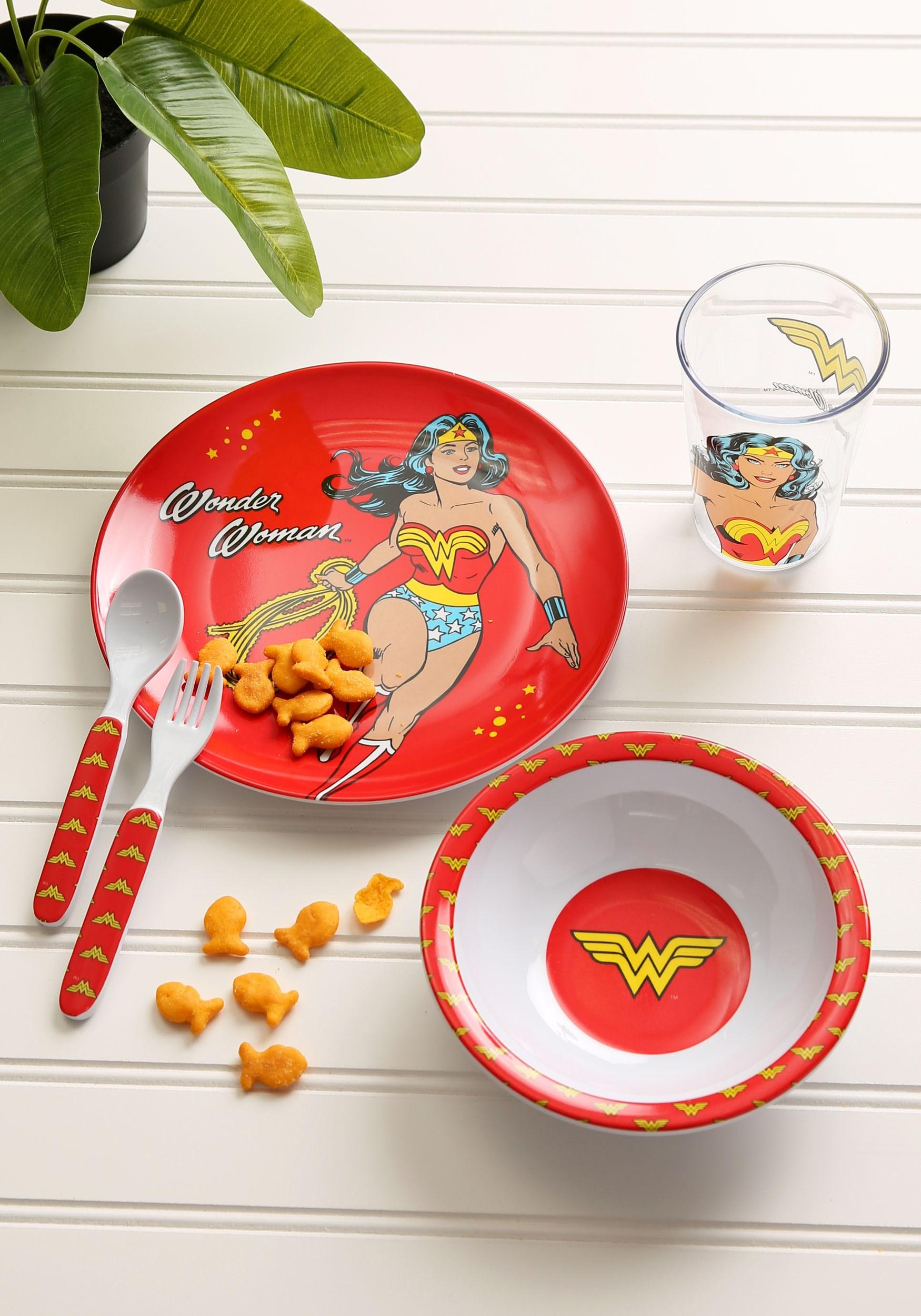 Wonder Woman DC Comics Mealtime Set