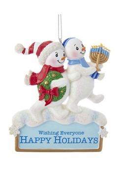 Resin Hanukkah 4 Snowman Ornament