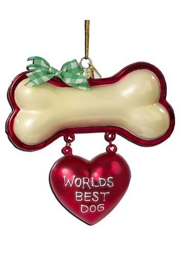 Kurt Adler Noble Gems World's Best Dog Glass Ornament