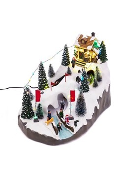 Kurt Adler Christmas LED Skiing Village