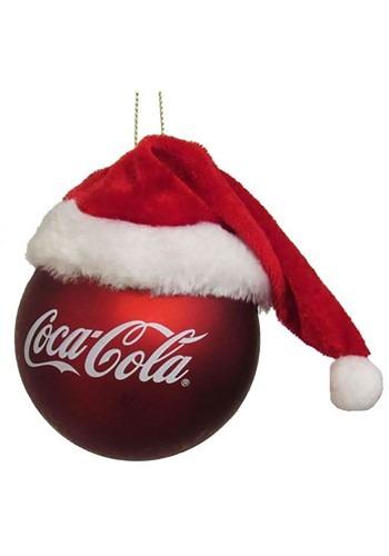 Coca-Cola Ball w/ Santa Hat Ornament