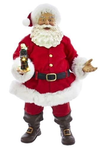 Coca Cola Santa w/ Light Up LED Bottle Décor