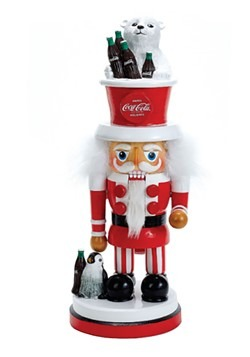 Coca-Cola Nutcracker w/Polar Bear Hat