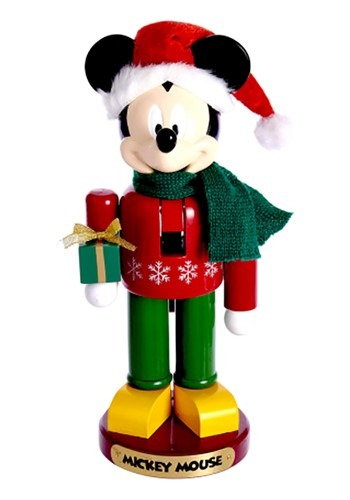 Mickey w/ Present Nutcracker