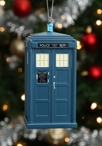 Doctor Who 13th Doctor Tardis Blowmold Ornament_Update
