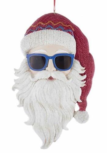 Cool Yule Santa Head Ornament