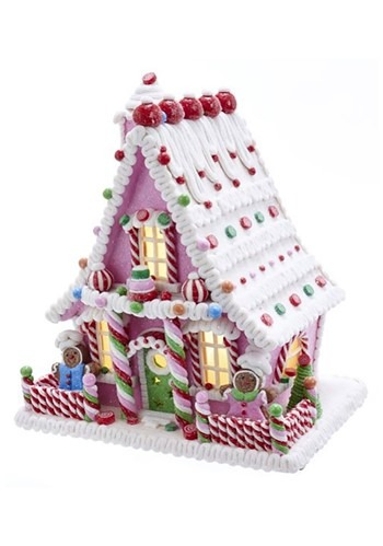 Candy Gingerbread House w/ LED Light & Timer