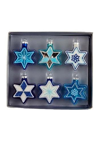 Star of David 6Pc Glass Ornament Set